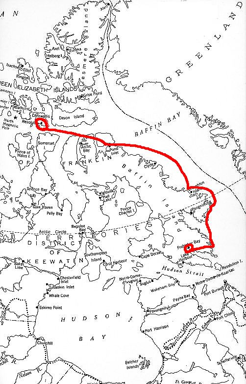 Map of the Eastern Arctic